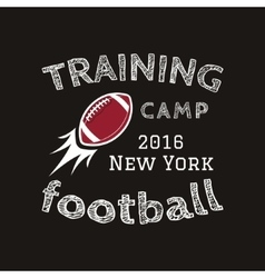 American football training camp logotype emblem vector image