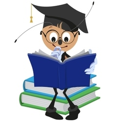 Ant Student reading book vector image vector image