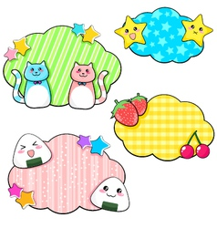cute stickers vector image vector image