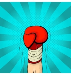Hand of boxer in boxing glove vector image