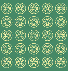 Seamless pattern with stars on green background vector