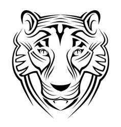 Tiger sign vector
