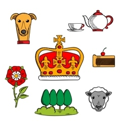 Traditional symbols of Great Britain vector image