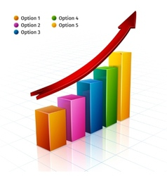 Business Graph 3d vector image