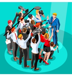 Election News Infographic Tribune Isometric People vector image vector image