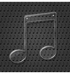 Glass Music Note Sign vector image