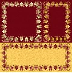 golden floral Greek ornament Meander vector image vector image