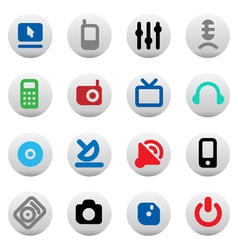 Set of media devices vector image vector image