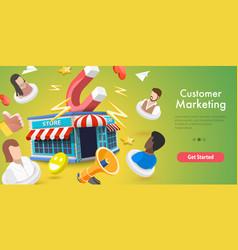3d conceptual customer vector