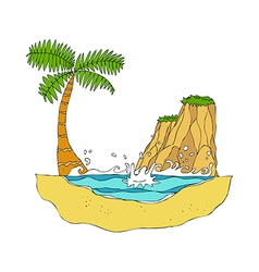 A view of island vector image