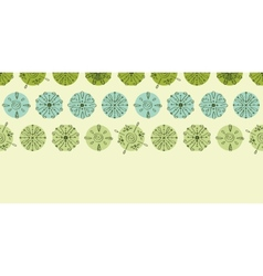 Abstract green polka dot stripes horizontal vector