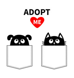 Adopt me dont buy dog cat in pocket pet adoption vector