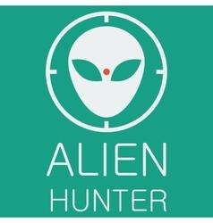 alien hunter on green background vector image