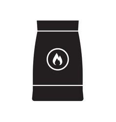 Barbecue coal bag icon vector