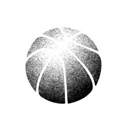 basketball halftones silhouette vector image