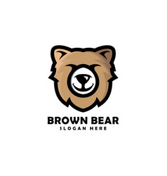 bear head mascot logo designs vector image