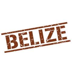 Belize brown square stamp vector