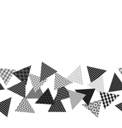Black and white patterned triangles geometric vector image