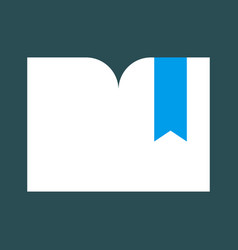 Bookmark flat symbol modern icon design vector