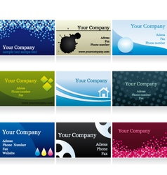 Business cards set IV vector image