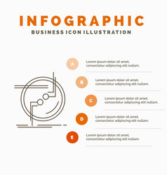 Chain connect connection link wire infographics vector