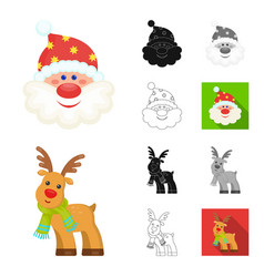 Christmas attributes and accessories cartoonblack vector