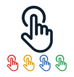 click icons hand shaped touch symbols vector image