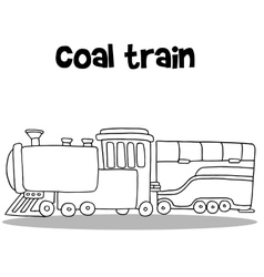 Coal train of hand draw vector