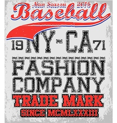 College baseball team badge in retro style graphic vector