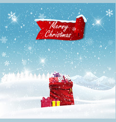 Color background with christmas presents in retro vector