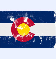 colorado state flag grunge vector image