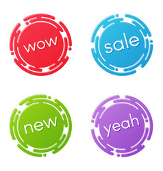 creative sale discount or promotion label designs vector image