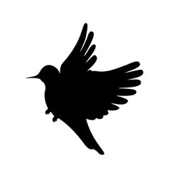 Cute bird silhouette vector