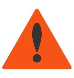 Danger Flat Icon vector image