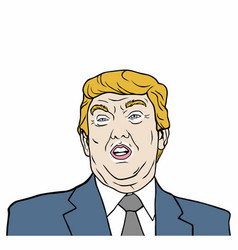 donald trump 45th president of usa design vector image