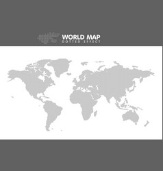 dotted gray world map small dot vector image