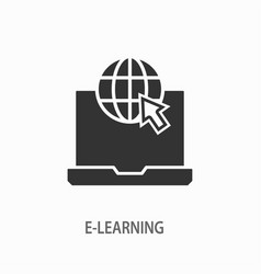 E-learning distance education icon for vector