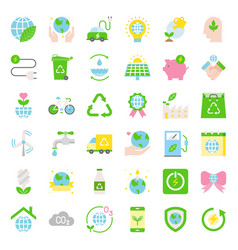 Earth day and ecology flat icon vector