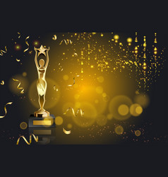 Figurine award realistic background vector