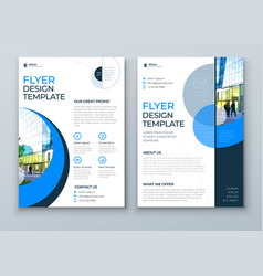 flyer with minimal geometric design modern vector image
