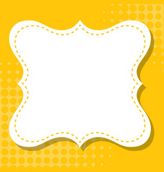 Frame template design with yellow background vector