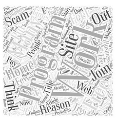 Free Work At Home Programs Word Cloud Concept vector