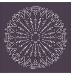 geometric hipster circle vector image