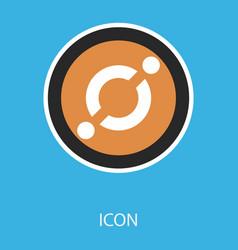 Golden icon coin crypto currency blockchain coin vector