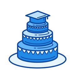 graduation party line icon vector image