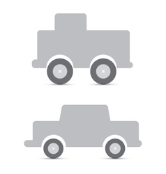 gray toy cars vector image