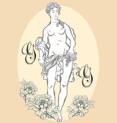 greek goddess the mythological heroine of ancient vector image