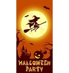 Halloween of mysterious night vector