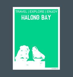 halong bay ha long vietnam monument landmark vector image