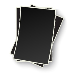 Heap of old photo frames isolated vector